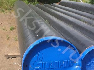 Поставка труб с наружной ВУС изоляцией 3сл. ГОСТ 9.602-2005 на объект Газпрома